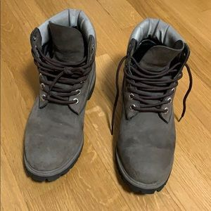 Men's Gray Timberland Boots